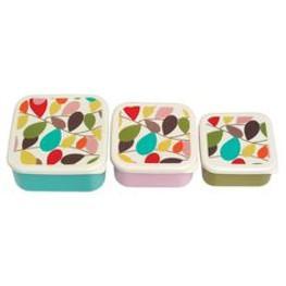 3er Set Lunchbox Vintage Ivy
