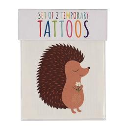 Tattoo Igel und Fuchs, 2er Set