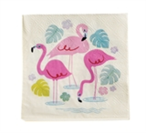 Papierservietten Flamingo