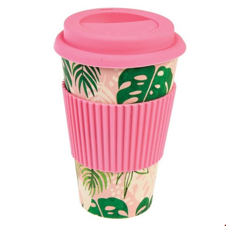 Bambusfaser Coffee to go Becher Tropical