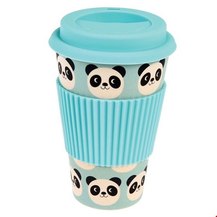 Bambusfaser Coffee to go Becher Panda