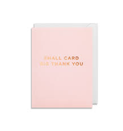 Mini Grusskarte small card big thank you