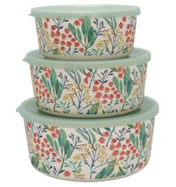 3er Set Frischhaltedosen Greengate Megan White