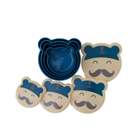 Lunchbox 4er Set Moustache
