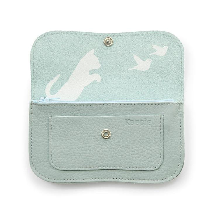 Portemonnaie Cat Chase Dusty Green
