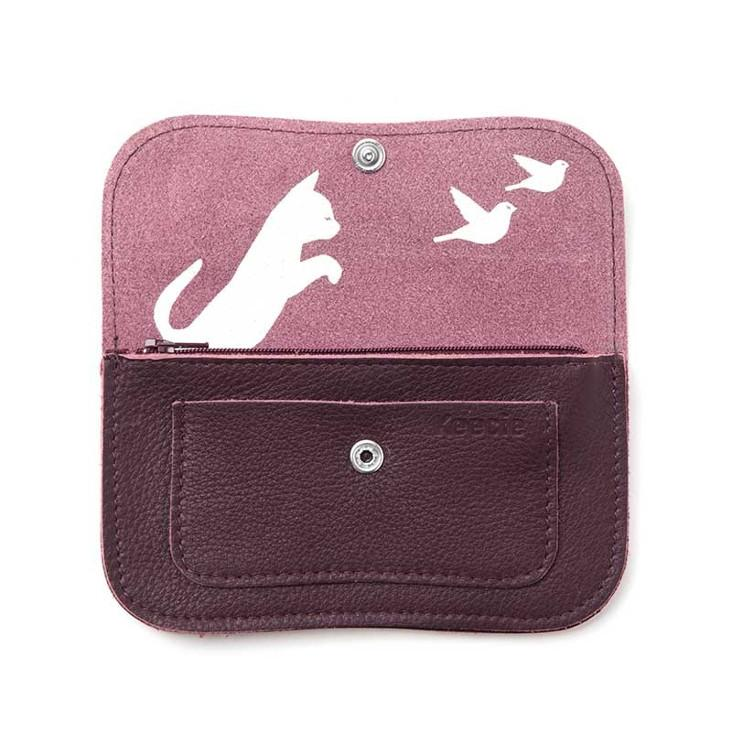 Portemonnaie Cat Chase Small Aubergine