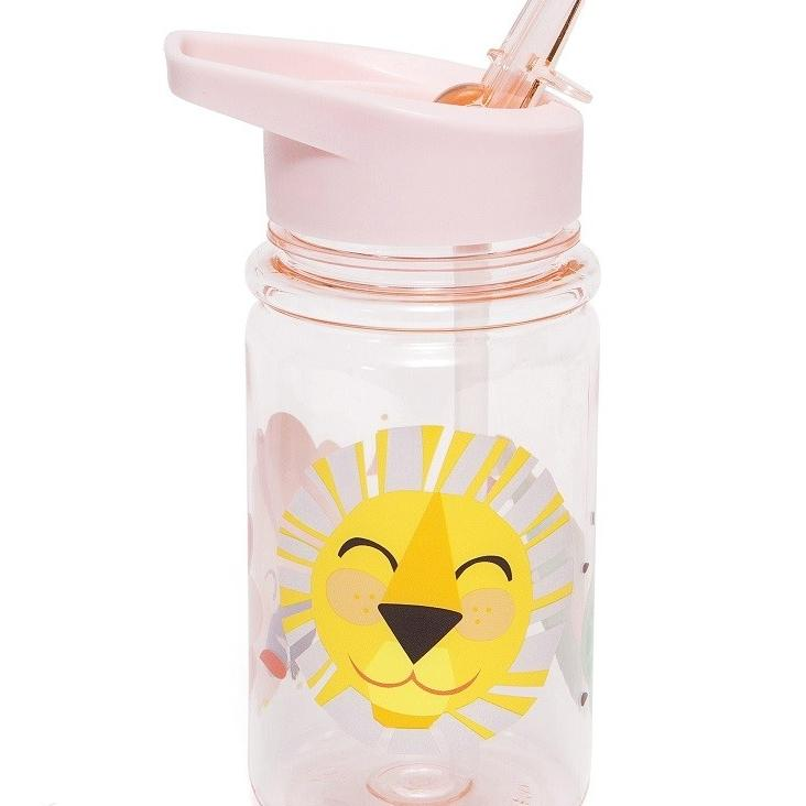 Trinkflasche Shiny Lion Pink