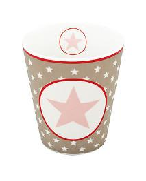Tasse Happy Mug big Star taupe