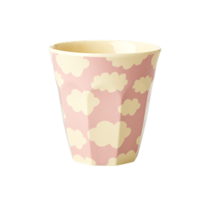 Rice Melamin Becher - Cloud Print Pink