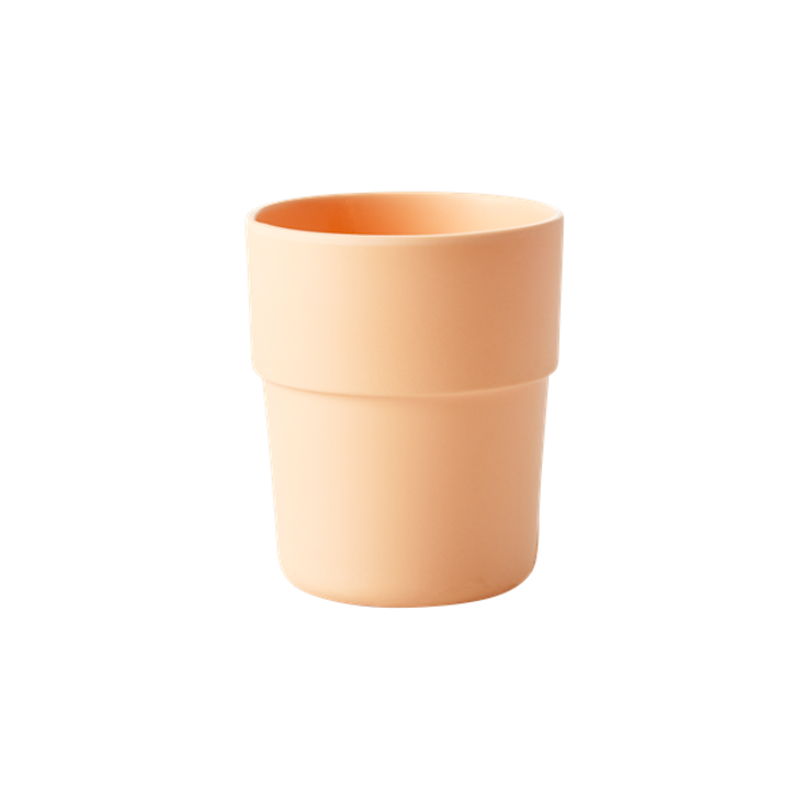 Natural Fibre Cup in Pastel Apricot