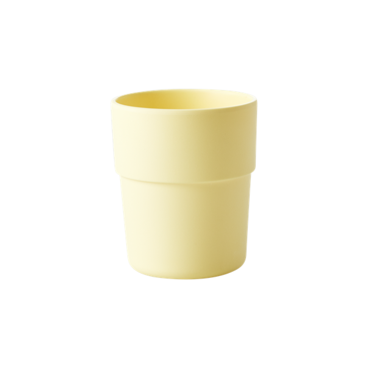 Natural Fibre Cup in Pastel Yellow