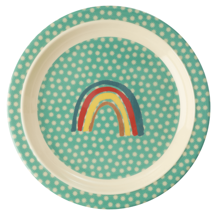 Rice Kinderteller - Rainbow and Stars Print