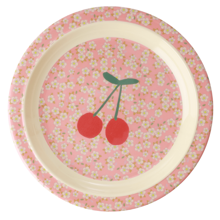 Rice Kinderteller - small Flowers and Cherry Print