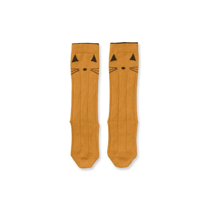 Kindersocken Cats Mustard
