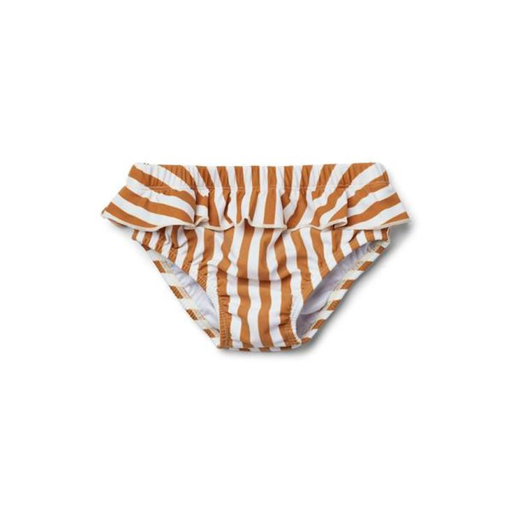 Elise Baby Girl Swim Pants Mustard Stripe