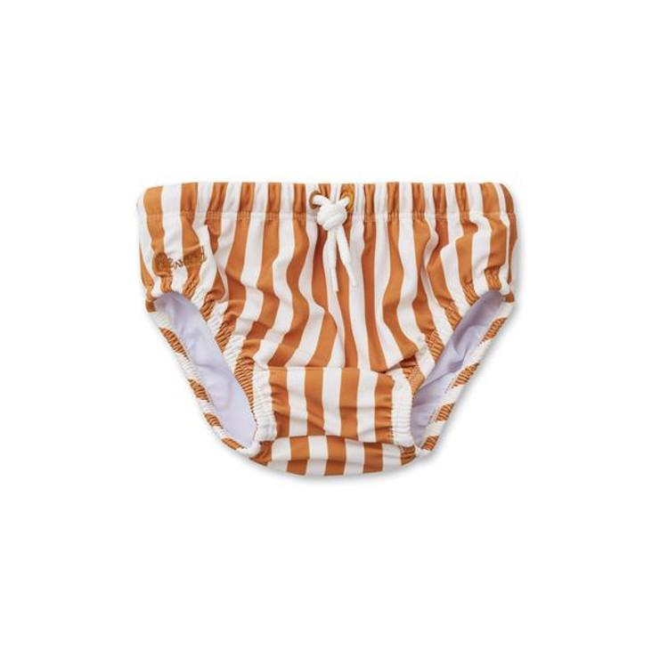 Frej baby boy swim pants - Stripe: Mustard
