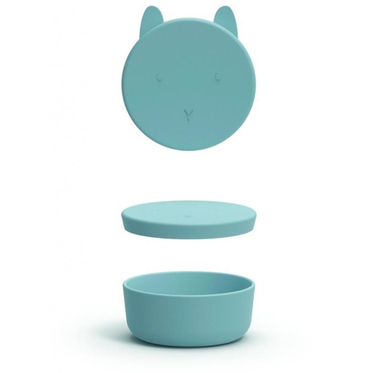 Liewood Charlot Snack Box Rabbit Sea Blue