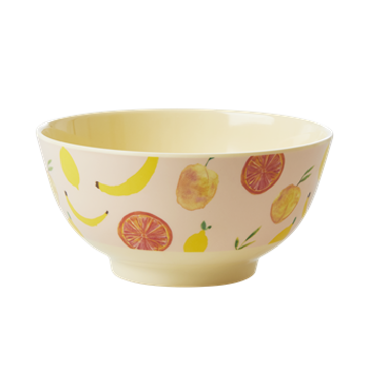 Rice Melamin Schüssel Happy Fruits - Medium