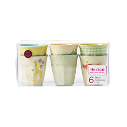Rice Becher Bambus-Melamin Boys 6er Set