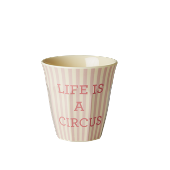 Rice Melamin Becher LIFE IS A CIRCUS