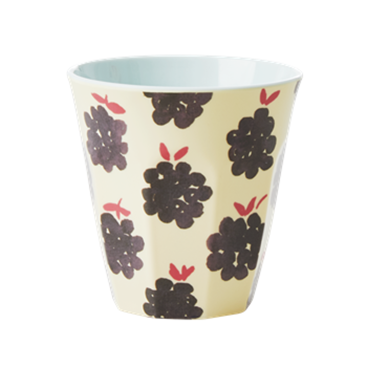 Rice Melamin Becher Blackberry Print