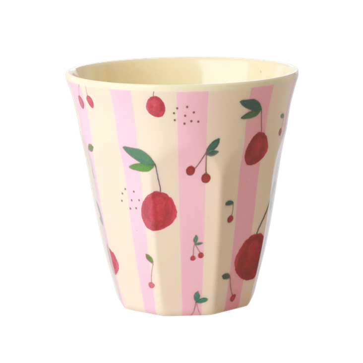 Rice Melamin Becher - Cherry Print