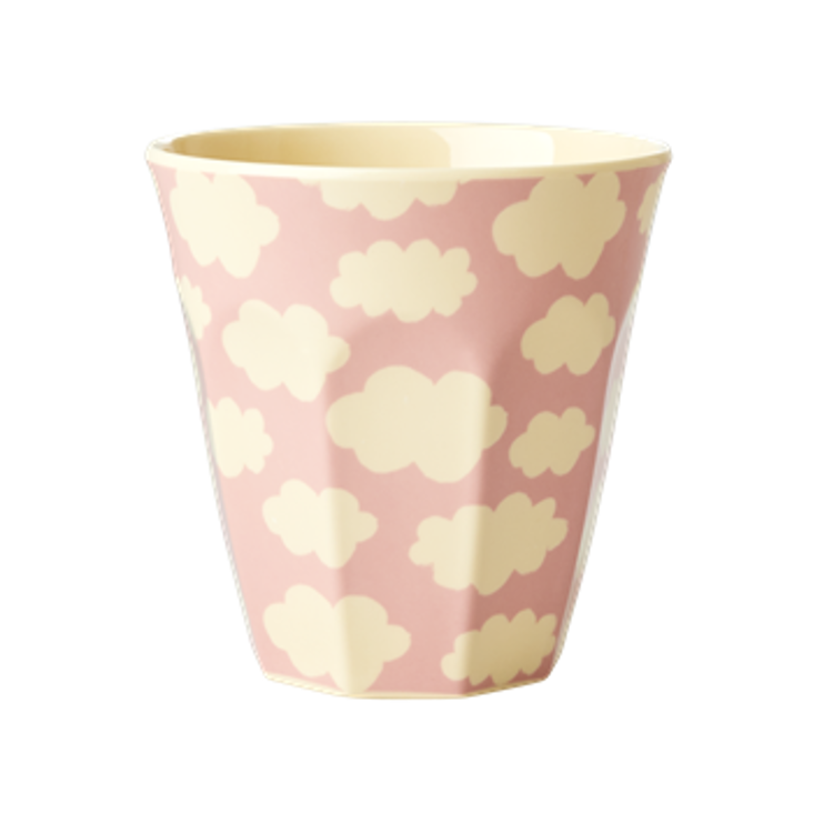Rice Melamin Becher Cloud Print Pink