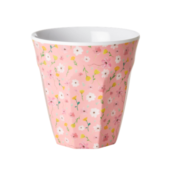 Rice Melamin Becher Pink Flower Print