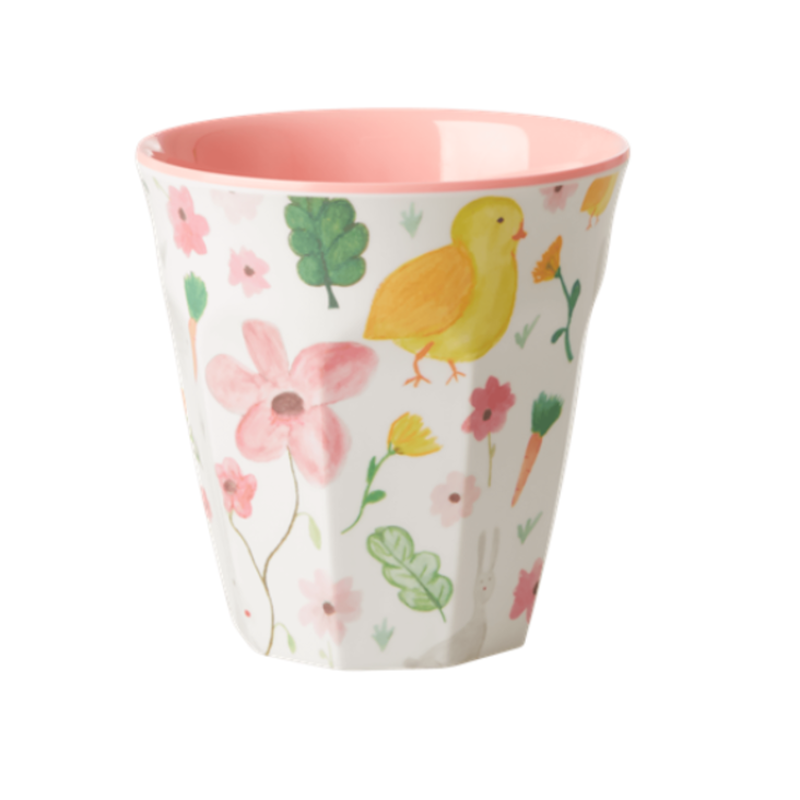 Rice Melamin Becher Flower Print