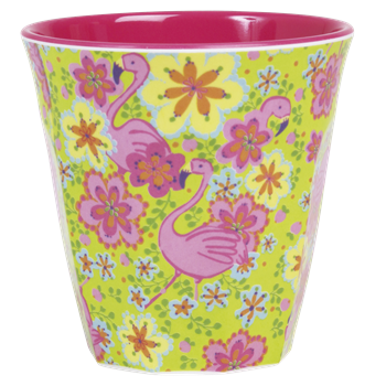 Rice Melamin Becher Flamingo Print