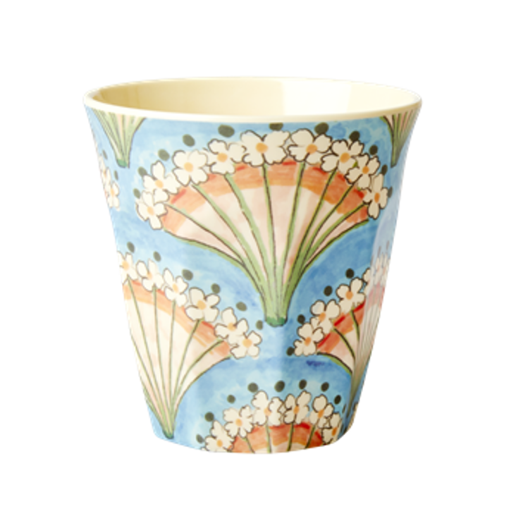 Rice Melamin Becher Flower Fan Print