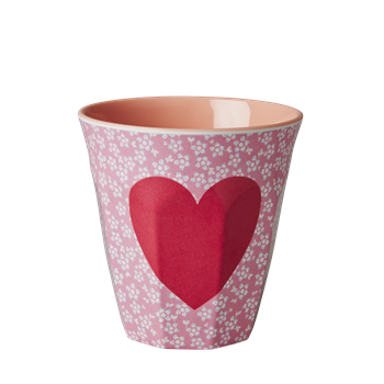 Rice Melamin Becher Heart Print