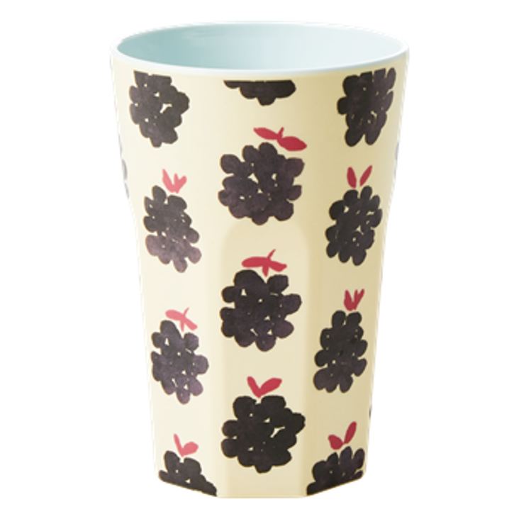 Rice Melamin Becher gross Blackbberry Print