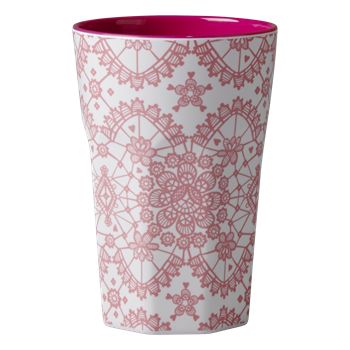 Rice Melamin Becher gross Lace print fuchsia