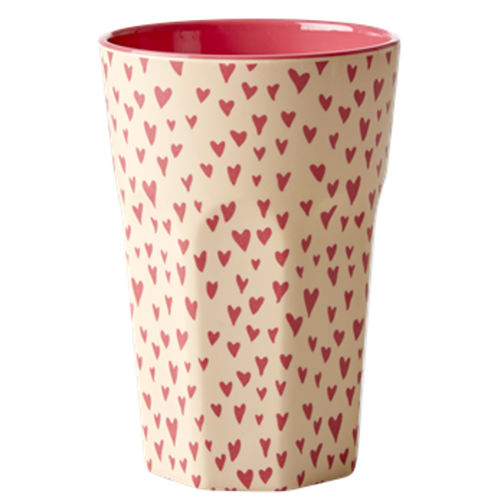 Rice Melamin Becher gross Hearts Print