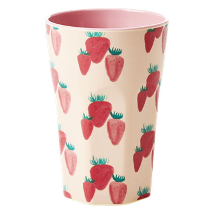 Rice Melamin Becher gross Strawberry Print