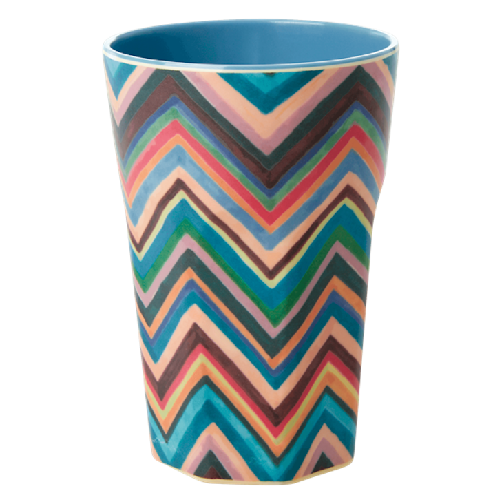 Rice Melamin Becher gross - Zig Zag Print