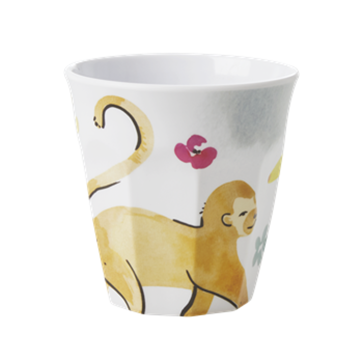Rice Melamin Becher Monkey Print