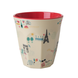 Rice Melamin Becher Paris Print