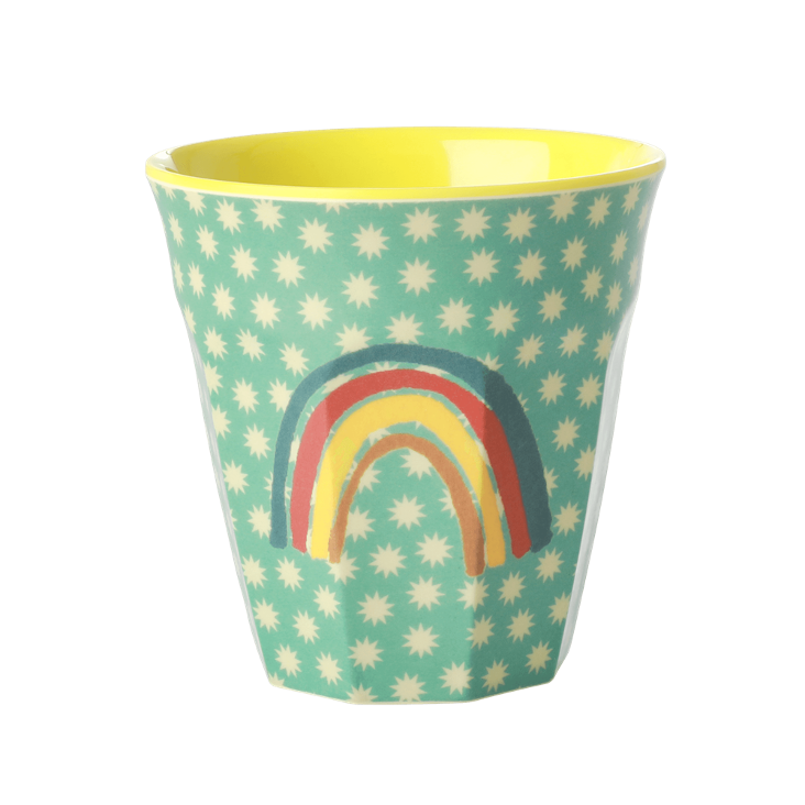 Rice Melamin Becher - Rainbow and Stars Print