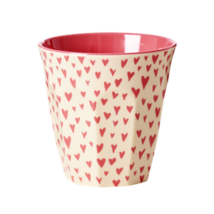 Rice Melamin Becher Hearts Print