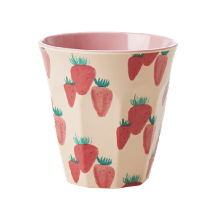 Rice Melamin Becher Strawberry Print