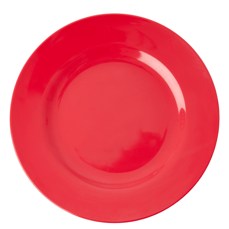 Rice Melamine Dinner Plate Red Kiss