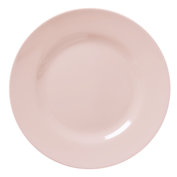 Rice Melamine Dinner Plate Soft Pink