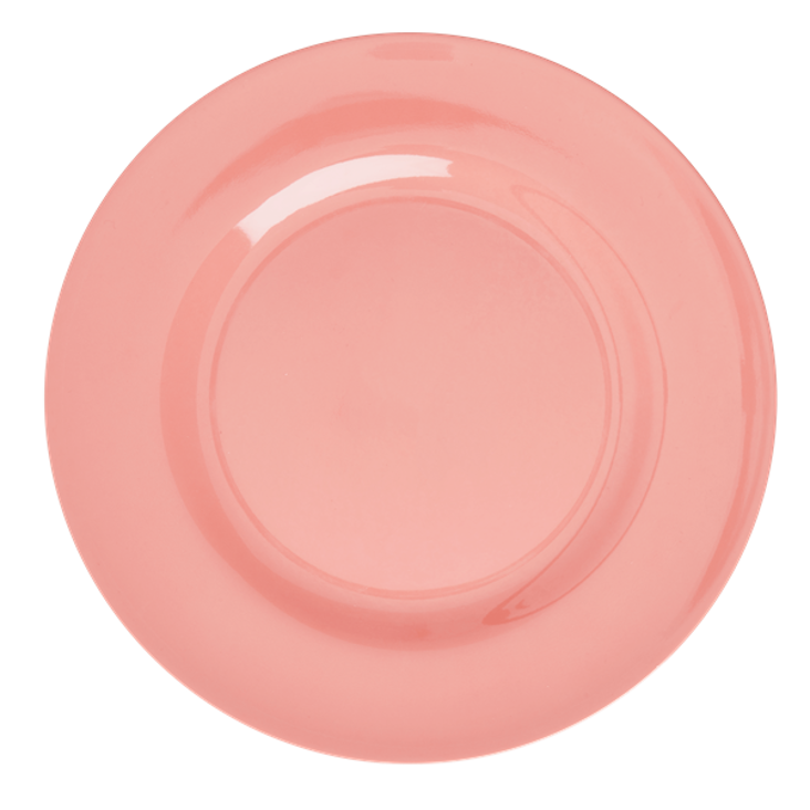 Rice Melamine Dinner Plate Coral