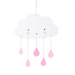 Mobile Wolke pink