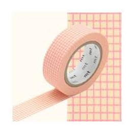 Original MT Masking Tape kleinkariert peach