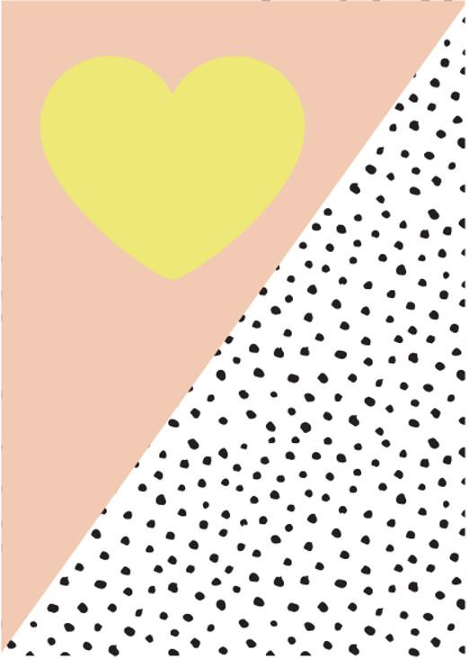 Postkarte Heart and Dots