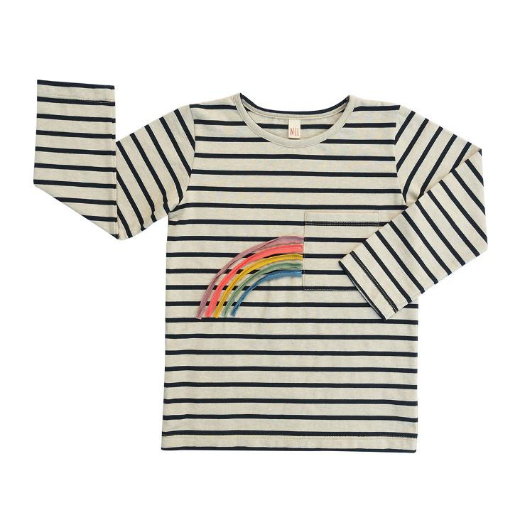 Sweatshirt Gestreift Rainbow