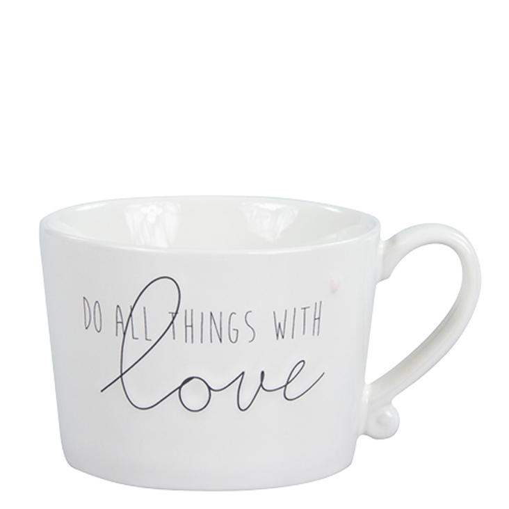 Tasse Do all things with love